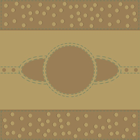 decorative round frame  Vector