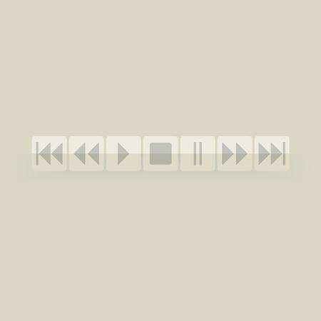 player button Stock Vector - 13107265