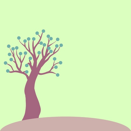 lonely tree Stock Vector - 13165480