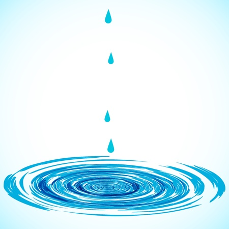 smooth surface: circles on the water  Illustration