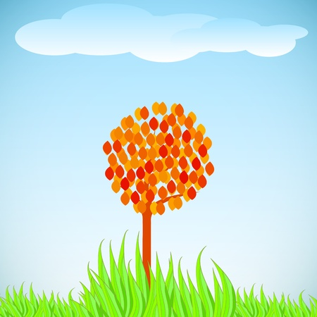 lonely tree Stock Vector - 13797886