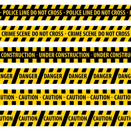 crimes: Police Line vector illustration