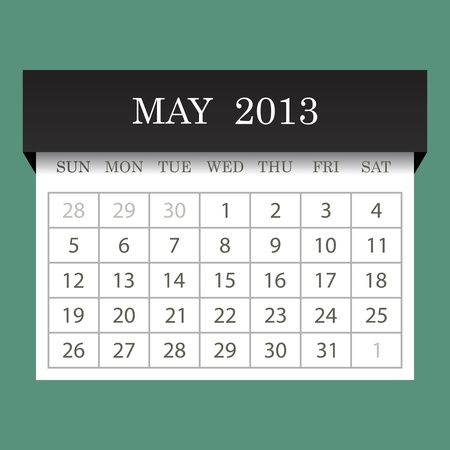 Calendar 2013 May Stock Vector - 14771404