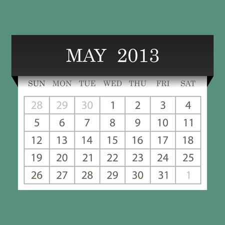 Calendar 2013 May Illustration