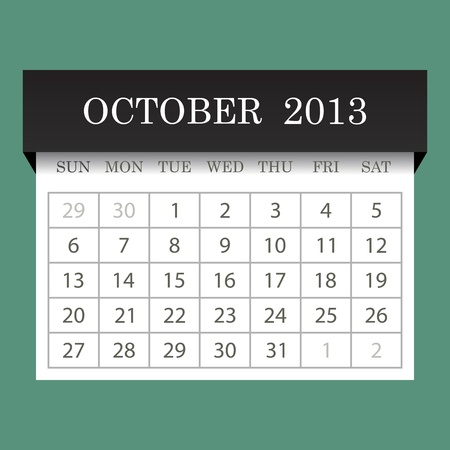 Calendar 2013 October Stock Vector - 14771405