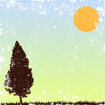 alone tree Stock Vector - 14771427