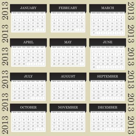 Calendar 2013 Stock Vector - 15057297