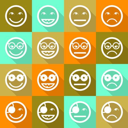 expresiones faciales: Iconos de la cara de la sonrisa