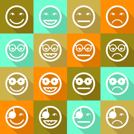 facial expressions: Smile face icons