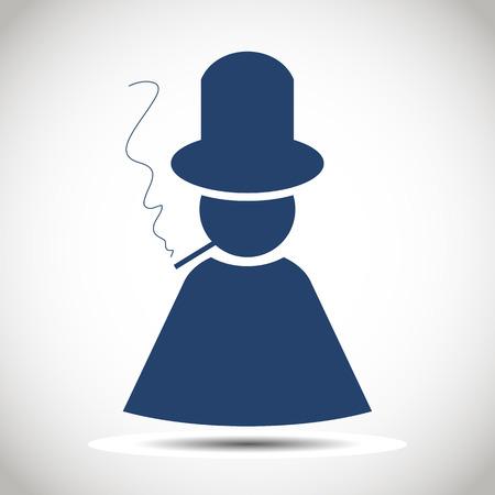 Man silhouette icon  Stock Vector - 28402580