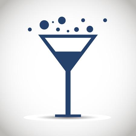 martini: Icon glass wine  Illustration