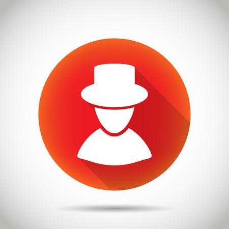 unrecognizable person: Man silhouette icon