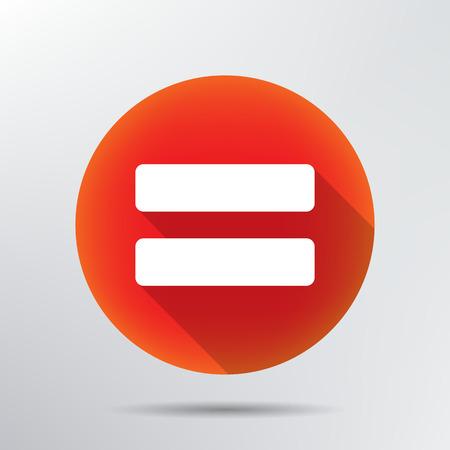 equals: Registrieren gleicherma�en Symbol