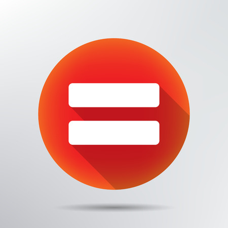 Sign equally icon  Vector
