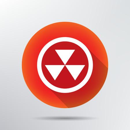 radiation icon Stock Vector - 28586106