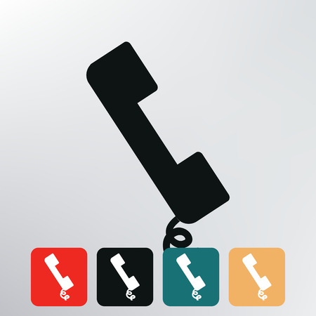 telephone handset icon   photo