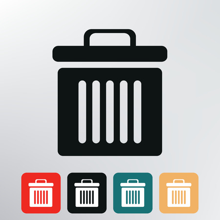 dustbin icon Stock Photo - 28747464