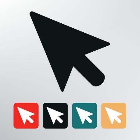flecha direccion: icono del puntero
