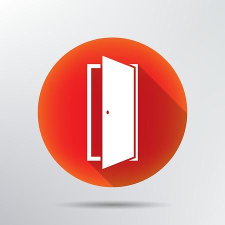 open sign: door icon
