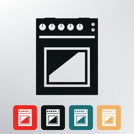 gas stove: gas stove icon