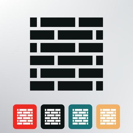 brick wall icon   Illustration
