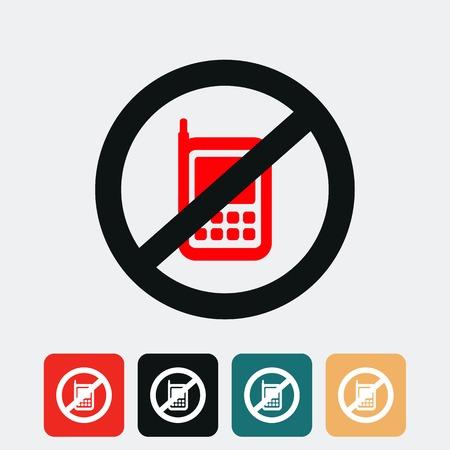 no cell: ninguna se�al de tel�fono celular Vectores