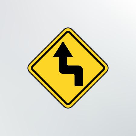 reverse: Left Reverse Turn icon.Vector illustration. Illustration