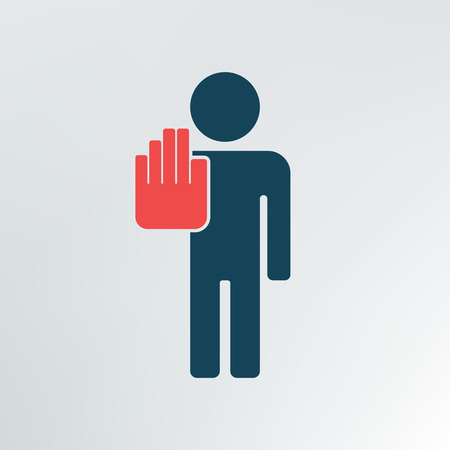 hand stop: hand stop sign illustration.
