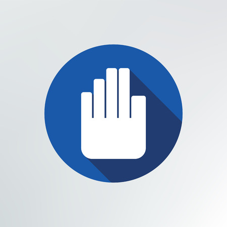 hand stop icon illustration. Vector