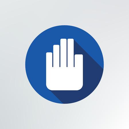 hand stop: hand stop icon illustration. Illustration