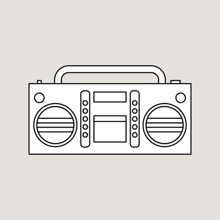 Tape recorder illustration.