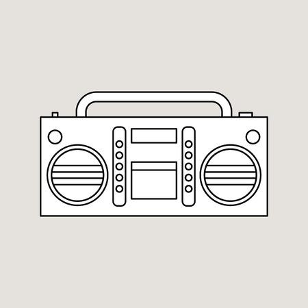 Tape recorder illustration. Vector