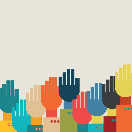 many hands.vector illustration. Vector