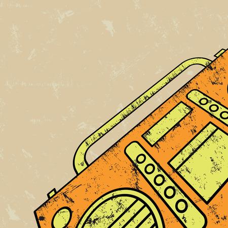 magnetofon: Magnetofon ilustracji. Ilustracja