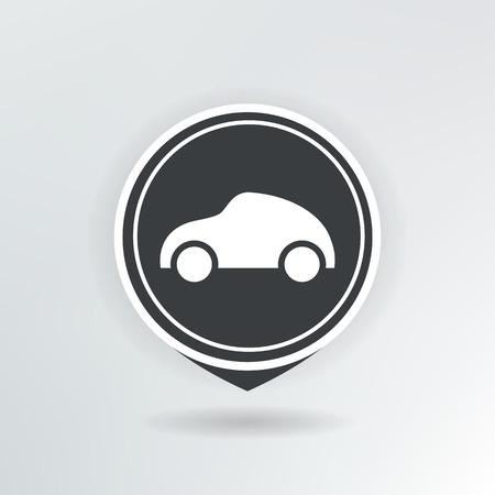 car map pointer illustration. Vector