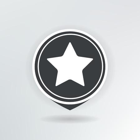 star map pointer illustration. Vector