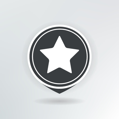 star map pointer illustration. Illustration