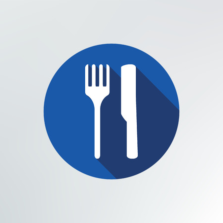 fork and knife Icon illustration. Vector
