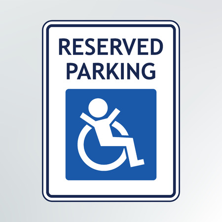 disabled parking sign: disabled parking sign illustration.