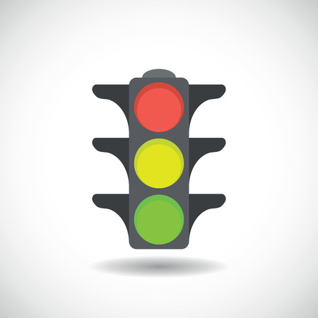 traffic light icon.vector illustration Illustration