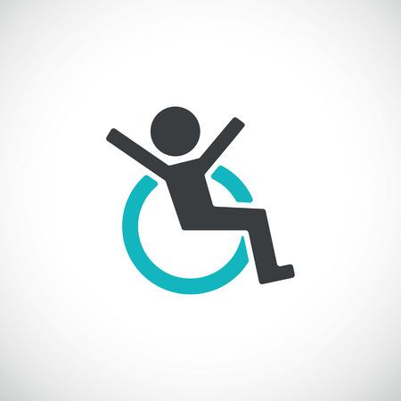 discapacidad: Ilustraci�n icon.Vector discapacitados