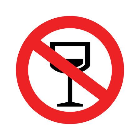 No alcohol sign.vector illustration. Vector
