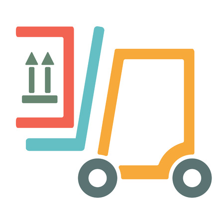 forklift truck: Forklift truck icon.vector illustration.