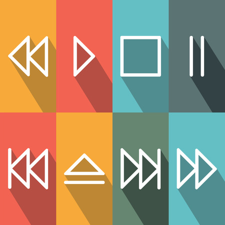 player controls: Media Player Buttons.vector illustration.