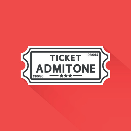 art icons: ticket icon.vector illustration. Illustration