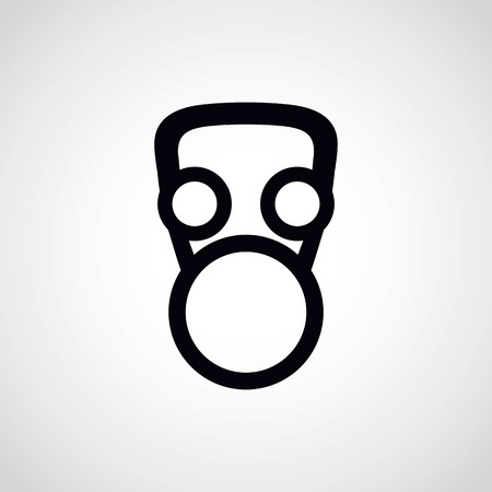 face in a gas mask.vector illustration. Illustration