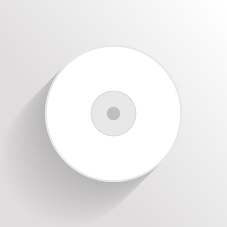 cd r: compact disk.vector illustration. Illustration
