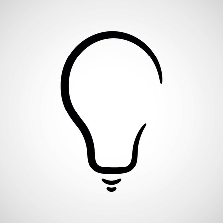 light bulb.vector illustration.