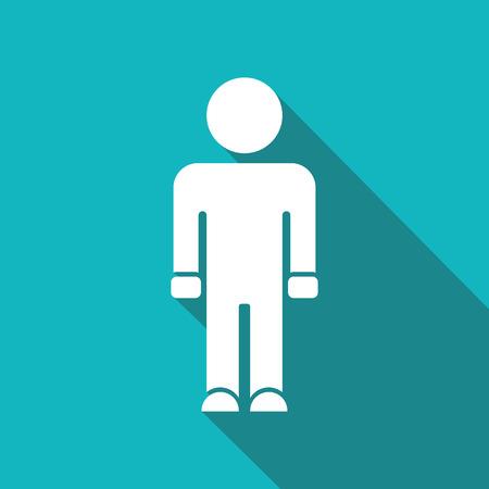 gender identity: man icon.vector illustration.