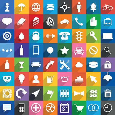 보편적 인: Universal Icons.vector illustration. 일러스트
